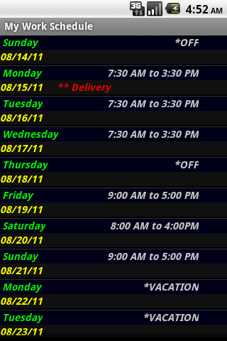 My Work Schedule-2
