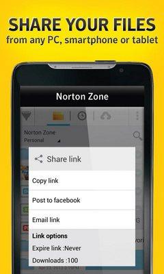 Norton Zone cloud sharing-2