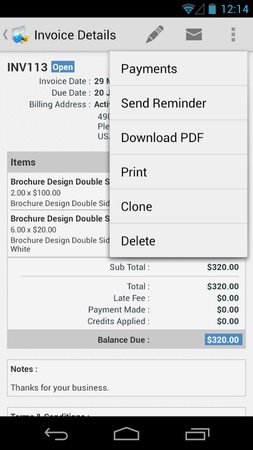 Zoho Invoice and Time Tracking-2