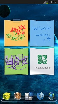 Next Launcher 3D Note Widget-1