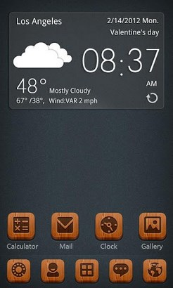 S-Red bottom GO Launcher Theme-1