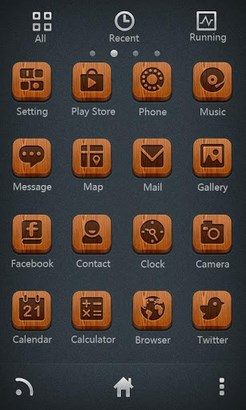 S-Red bottom GO Launcher Theme-2
