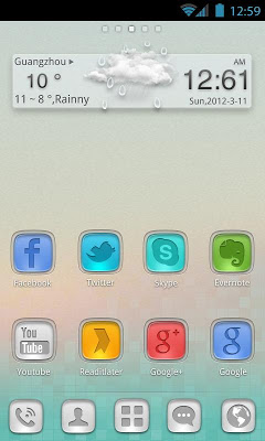 StainedGlass GO Launcher Theme-1
