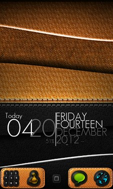 Leather - GO Launcher Theme-1