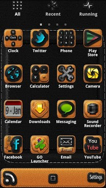 Leather - GO Launcher Theme-2