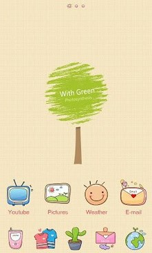With GO Launcher Theme-1