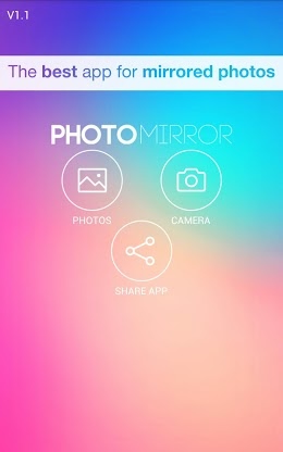 Photo Mirror Effect App