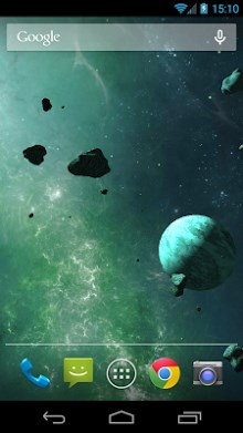 Asteroids 3D live wallpaper-1