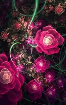 Glowing Flowers Live Wallpaper-1