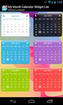 My Month Calendar Widget Lite-1