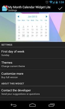 My Month Calendar Widget Lite-2