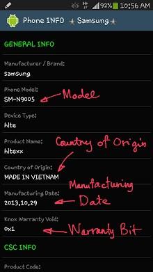 Phone INFO - Samsung-1