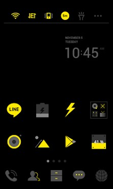 Dark Yellow Dodol Theme-1