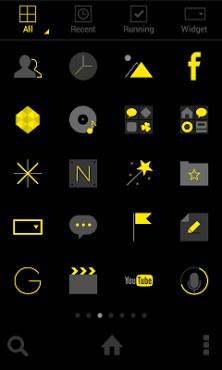Dark Yellow Dodol Theme-2