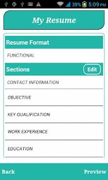 smart resume builder cv free apk download for android