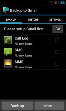 Backup message & call to Email-1
