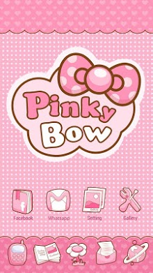 Pinky Bow GO Launcher Theme-1
