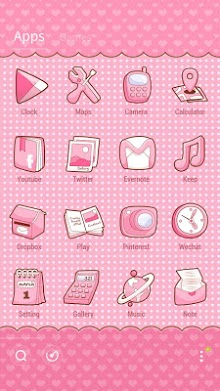Pinky Bow GO Launcher Theme-2