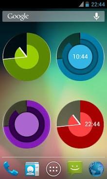 Holo Clock Widget-1