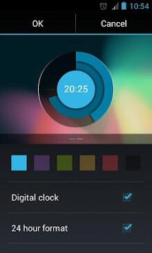 Holo Clock Widget-2