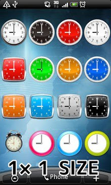 Simple Analog clocks widget-1