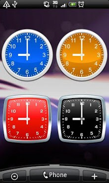 Simple Analog clocks widget-2