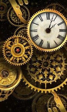 FREE Gold Clock Live Wallpaper 1