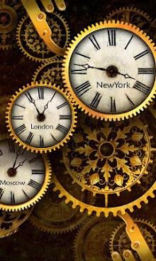 무료 골드 시계 라이브 월페이퍼 -2