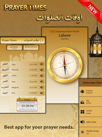 Islamic Prayer Times & Qibla-1