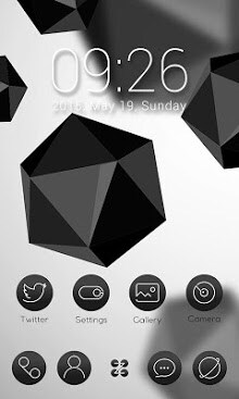 Black & White Launcher Theme-1