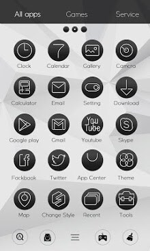Black & White Launcher Theme-2