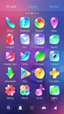 كريستال GO Launcher Theme-2
