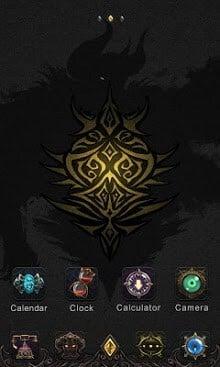 Darkness GO Launcher Theme-1