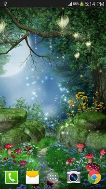 Fireflies Live Wallpaper Free-1