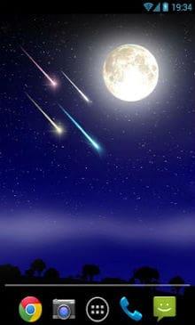 Meteor shower Live Wallpaper-1
