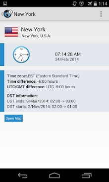 eastern time zone clock download