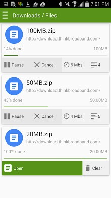 how to download files fast