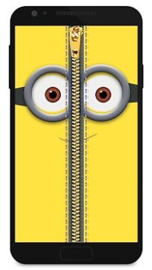 Zipper Lock Screen Yellow-1