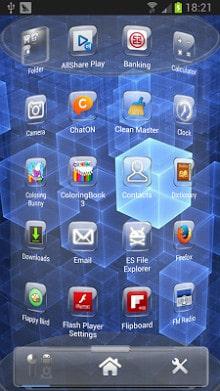 Glass Next Launcher 3D Theme-2