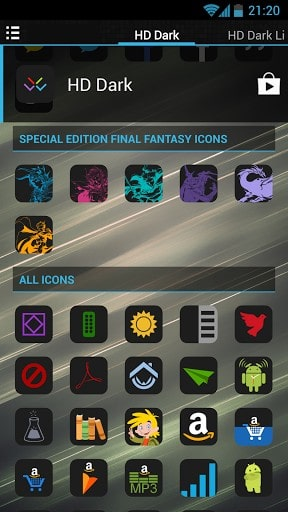HD Dark Free - Icon Pack | APK Download For Android