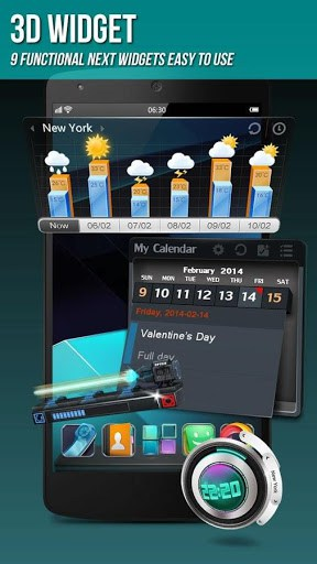 next launcher 3d shell lite mobile9