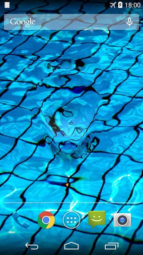 Water Drop Live Wallpaper Simulates Ripple Effect