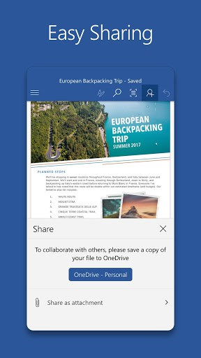 the familiar word app lets you create edit view and share your files with others quickly and easily it also lets you view and edit office doc attached to