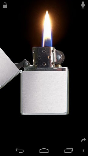 The Virtual Zippo Lighter Opens With A Flick Of Your Wrist And Lights Turn Thumb Windproof Flame Sways As You Move Android Device