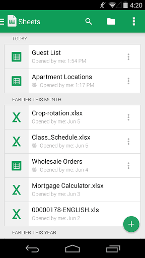 Google Sheets APK for android | APK Download for Android
