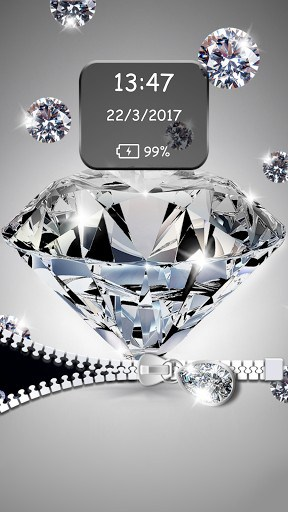 Diamond Zipper Lock Screen | APK Download for Android