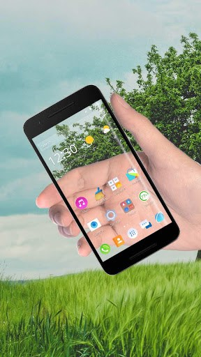transparent screen launcher apk free download