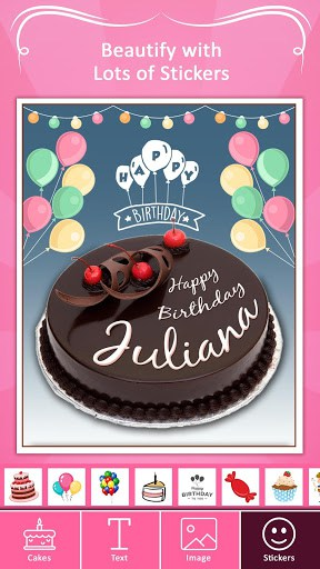 Write Name On Cake Birthday Allows You To Create Personalize Photos And Stickers For Your Loved Ones Try NowYou Can Chose From Many