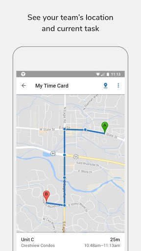 tsheets is a cloud based time tracking and scheduling app that allows your employees to clock in and out from the job site with the devices theyve already - Time Card App For Android