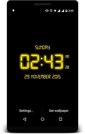 LED Digital Clock Live Wallpaper | APK Download for Android